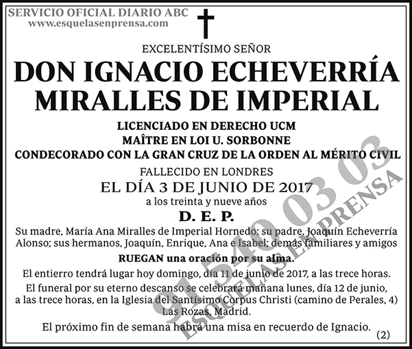 Ignacio Echeverría Miralles de Imperal